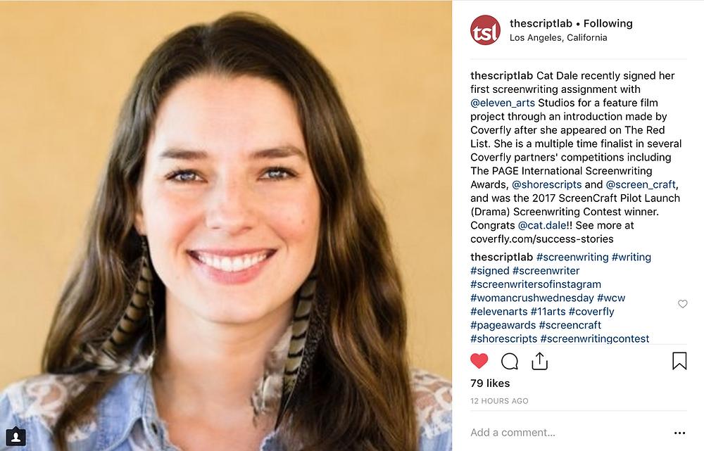 Cat Dale Instagram Post