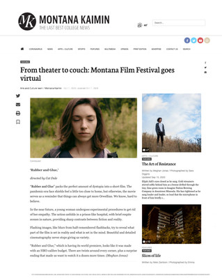 World Premiere and Review of RUBBER AND GLUE at the Montana Film Festival