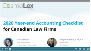2020 Year-end Accounting Checklist for Canadian Law Firms