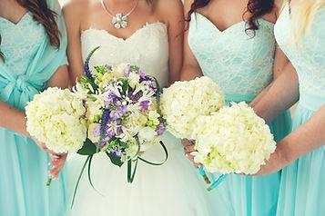 myrtle beach wedding bouquets from hydrangeas and purple flowers