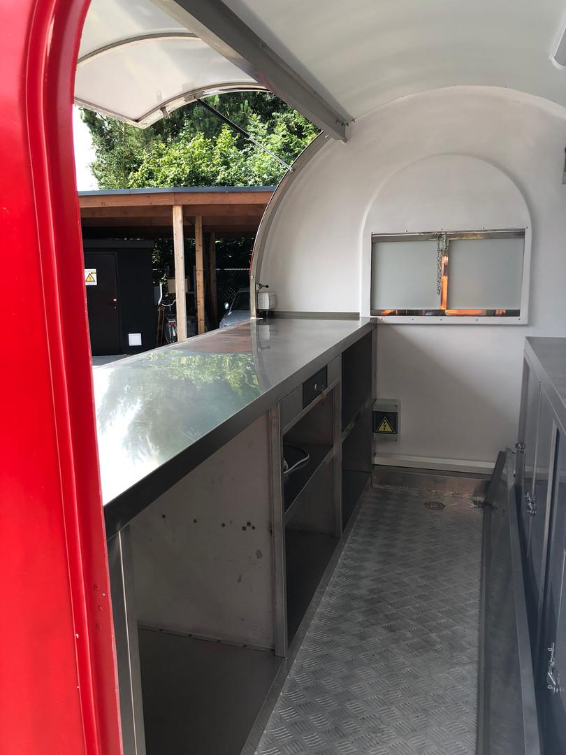 Foodtruck binnenkant
