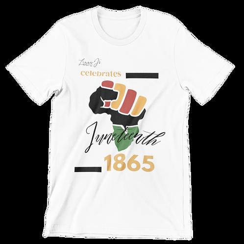 White Juneteenth T-shirt