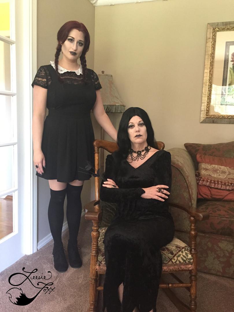 Leesie Foxx Wednesday & Moticia Addams
