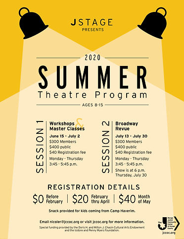 JStage Summer 2020 Theatre Program Flyer