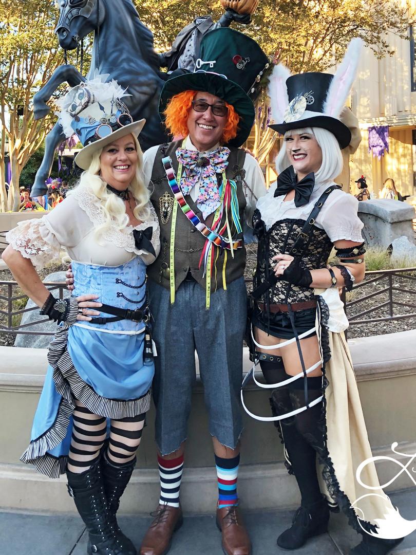 Leesie Foxx White Rabbit Steampunk Mickey's Halloween Party 2018