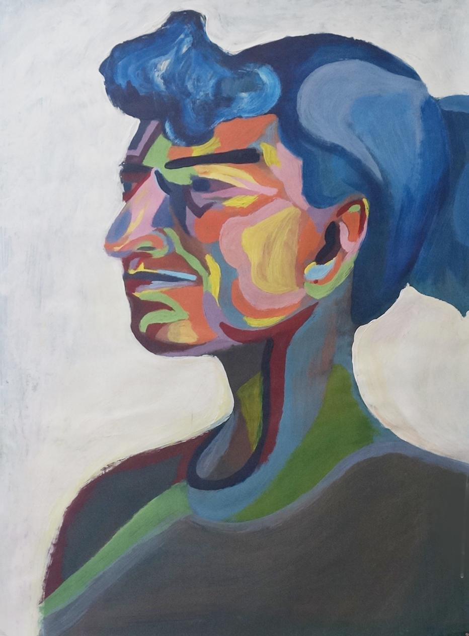 Blue Hair Woman