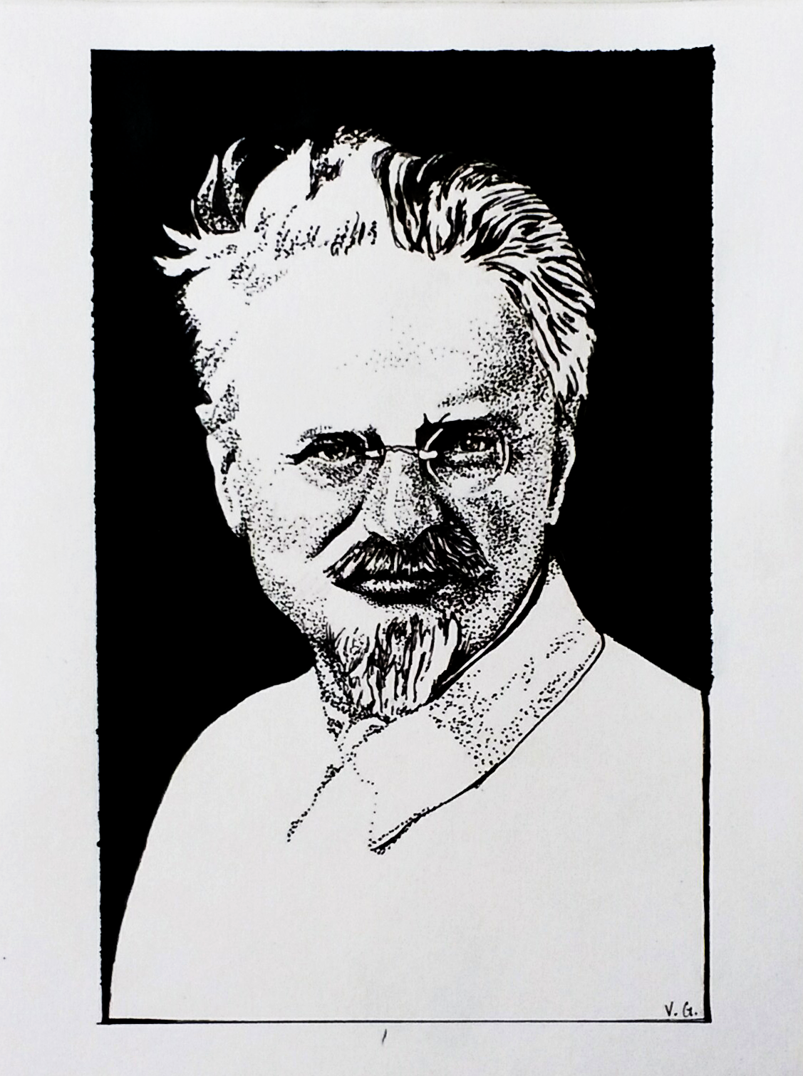 Trotsky (Dotwork)