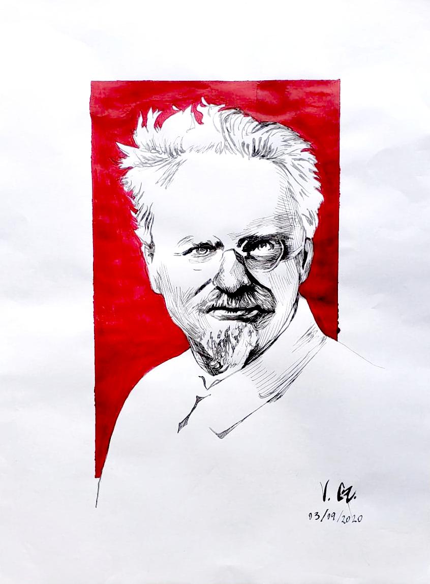Trotsky, Red Background