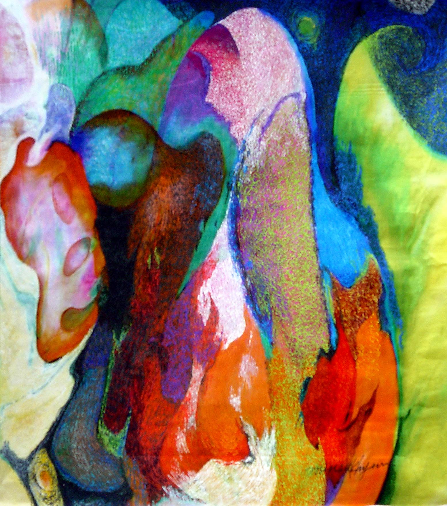 Sunset. 27.5x22cm.acrylic on canvas_2003
