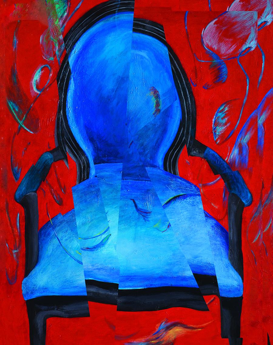 My heart pounding (A distorted heart)_27.5x35_magic mirror,mixed media_2011
