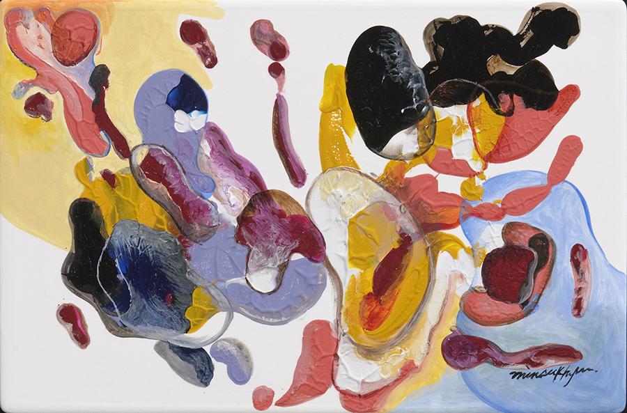 두근대는 심장2 (Heart Beating ll) 30x30cm .acrylic on plate_2010