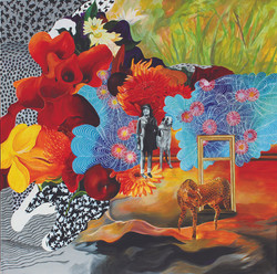 Fantasies 130x130cm.acrylic on canvas_2015