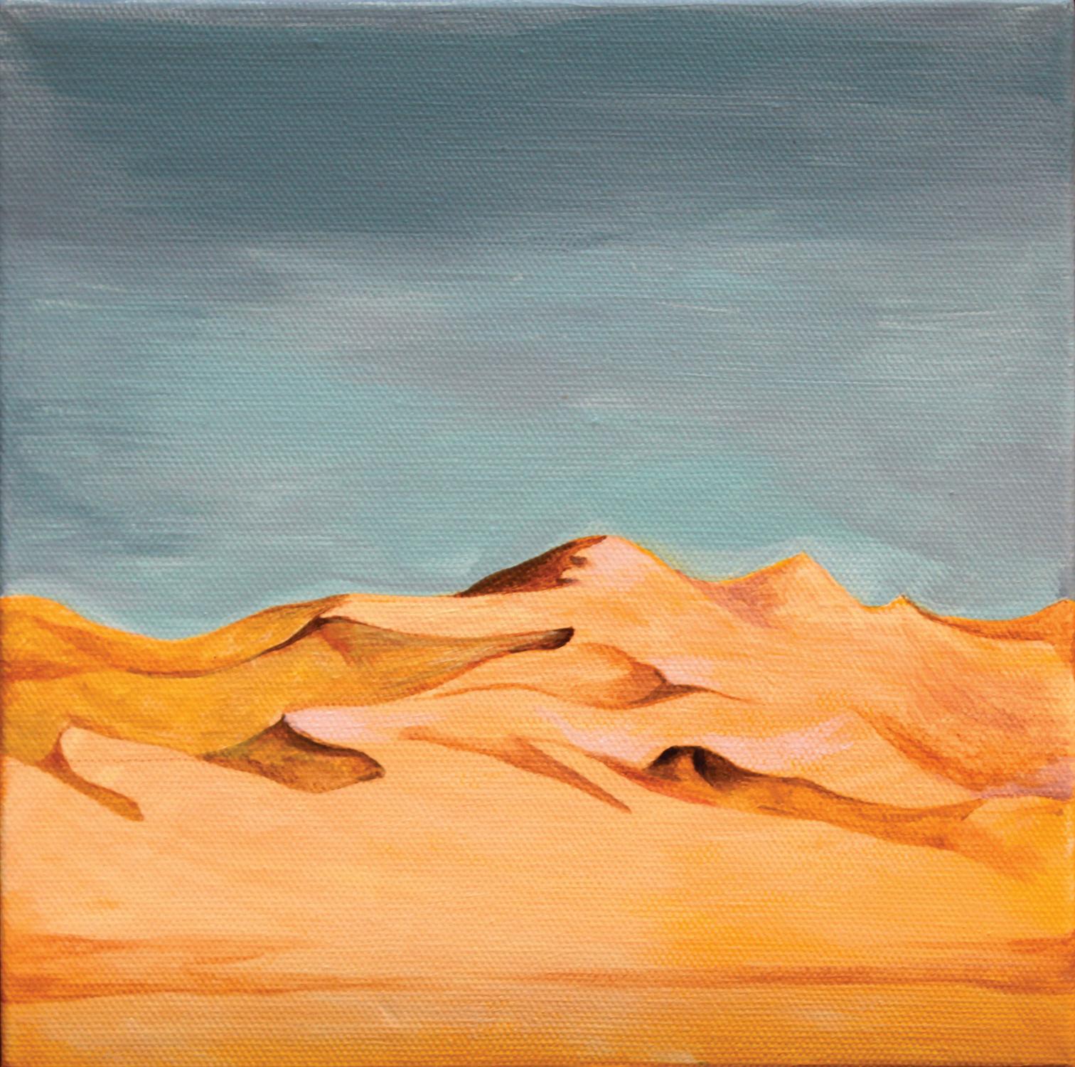 A desert in San diego  27x27cm Acrylic on Canvas_2014