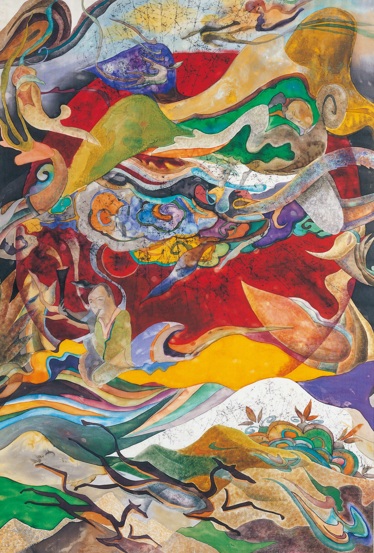 Drem (Orientalism) 167x98cm korean ink on silk._1999