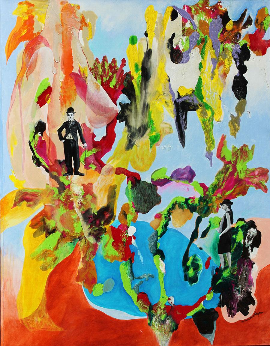 풍경(젊은 한때의 추억) (Memory from the Youth)116x91cmacrylic on canvas_2010