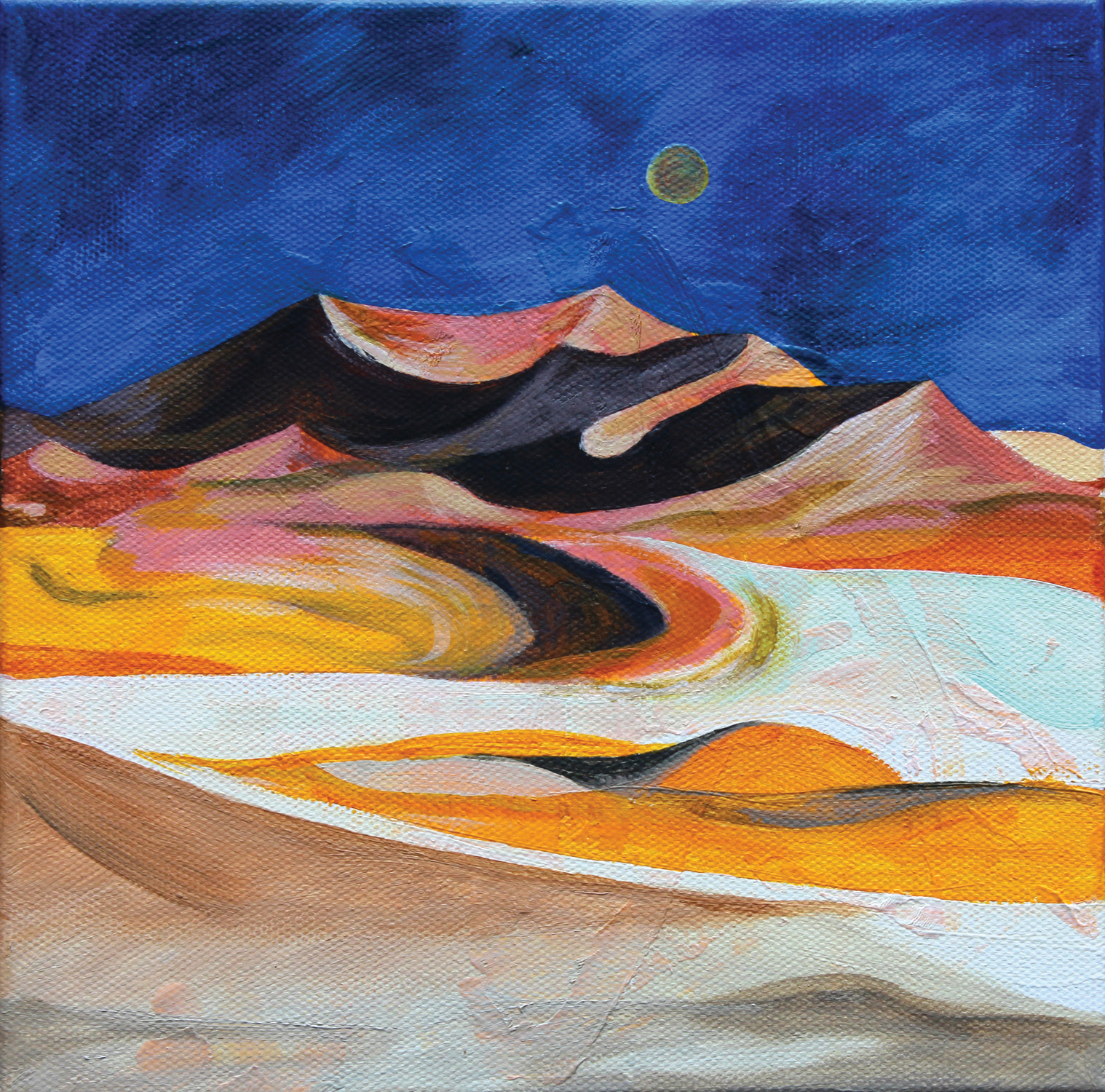 A desert in San diego  27x27cm Acrylic on Canvas._2014