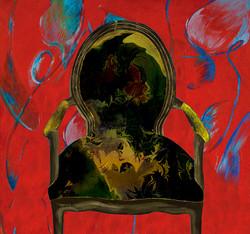 가슴이 뛴다. (슬픔이 드리울 때)My heart pounding( Feel sad)_35x32_magic mirror,mixed media_2011