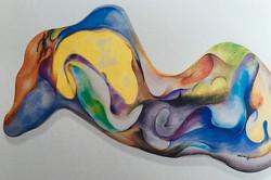 Eve 63x95cm..korean ink on canvas_2003
