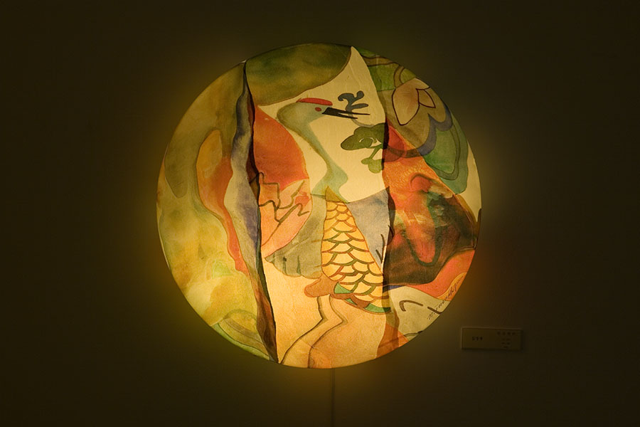 orientalism. painting on silk-2006