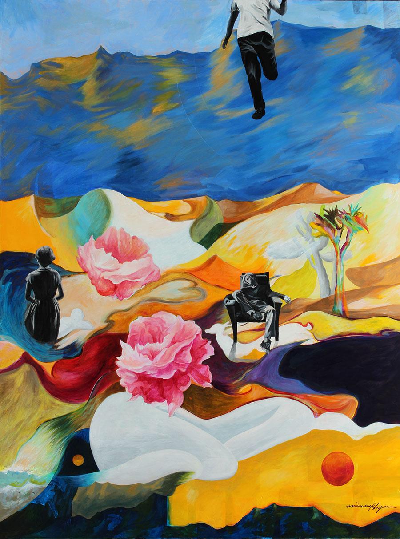 그리움 (Longing) 120x95cm.Acrylic on Canvas.  2015