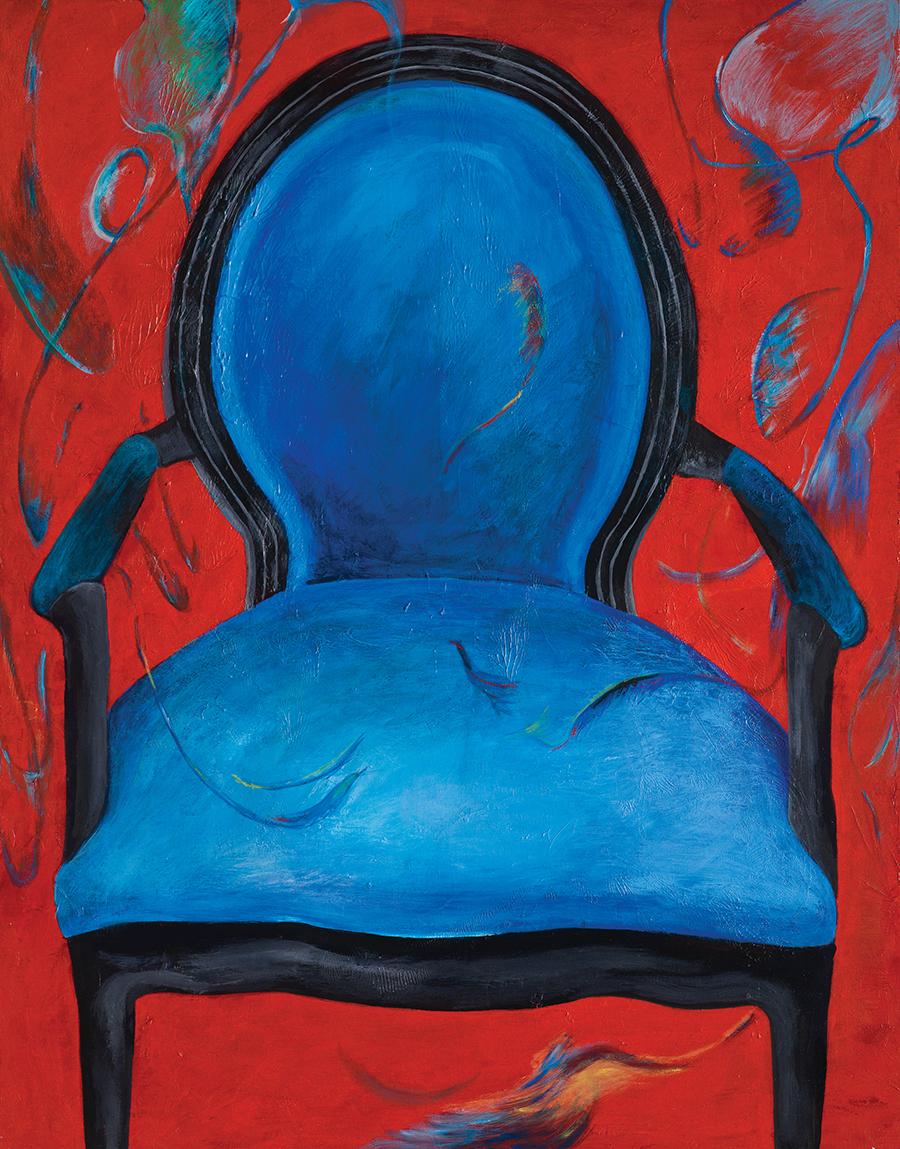 우울한 의자A gloomy chair_90.9x72.7(30F)_acrylic on canvas_2010