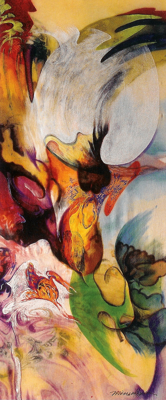 A Refreshed life 90x40  painting on silk_2003