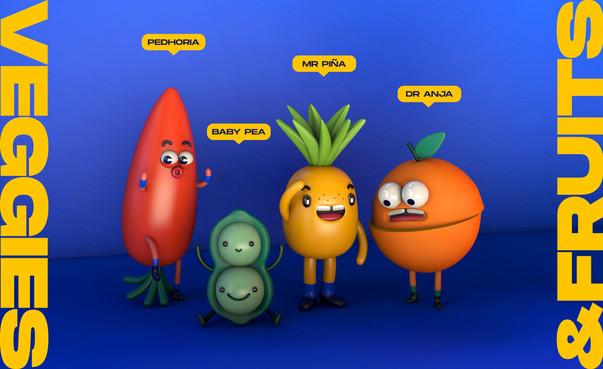 Veggie & Fruit Family | 3D