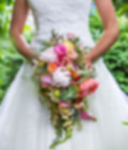 May bride. Flowers by Natys Floral Design & Services.Photo: Abigail van Kooten