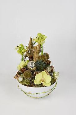 Kerststuk door Natys Floral Design & Services