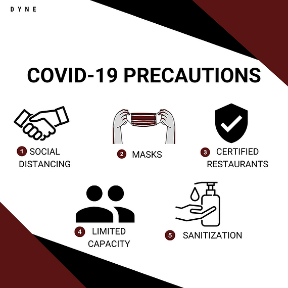 COVID precautions we'd like you to take when meeting at restaurants