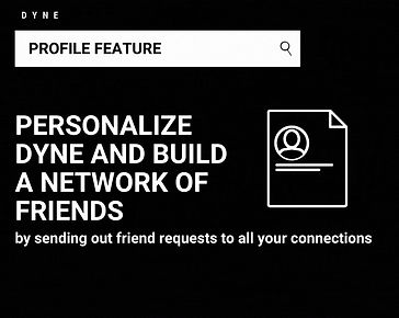 Dyne allows you to connect with your new friends over food