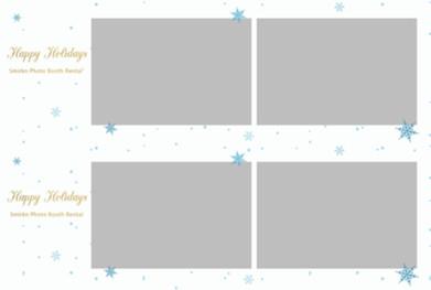 2pic horizontal snowflakes