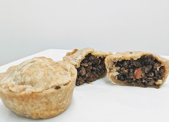 One Mini Beyond Meat Pie with Side Gravy