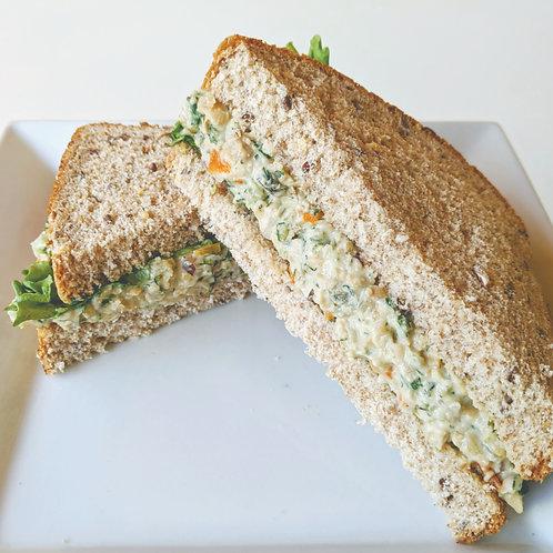 Chickpea Salad on 12 Grain