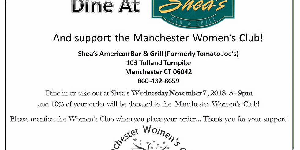 Dine out night at Shea's!