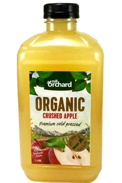 Mill Orchard Organic Crushed Apple Juice 1 litre carton of 3