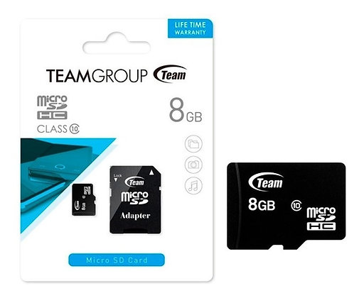 TEAM GROUP MICRO SD 8GB CLASE10 CON ADAPTADOR