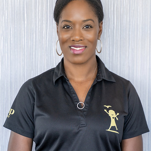 Woman Polo Black AMP T-Shirt
