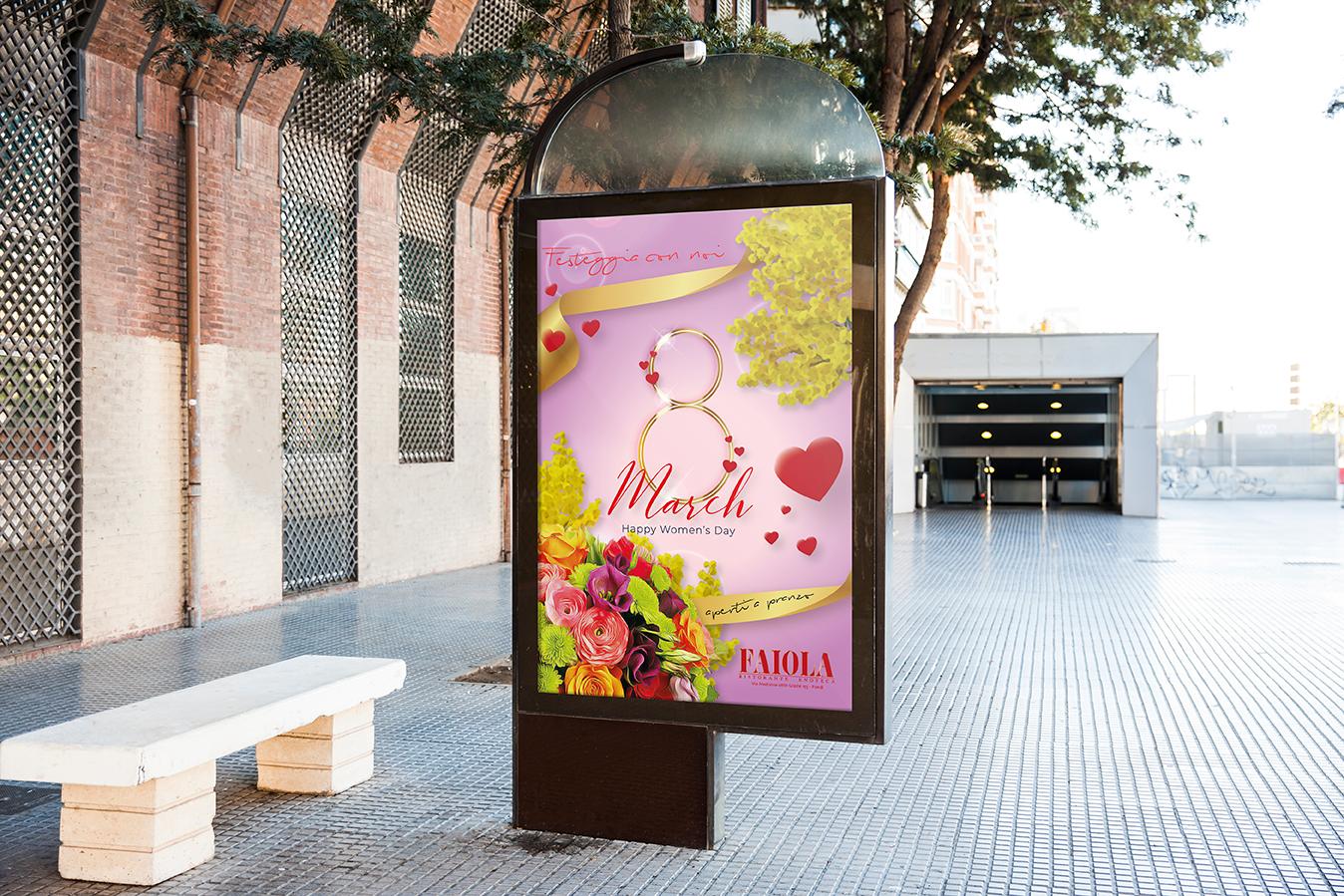 Poster metro ingresso - 8 marzo 2020