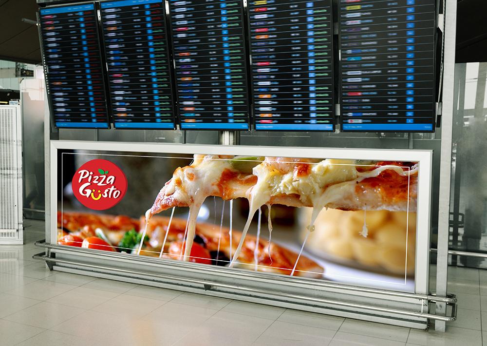 Pizzagusto - Cartellone orario volo aeroporto