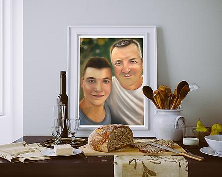 Samy e Emanuele - Quadro living credenza