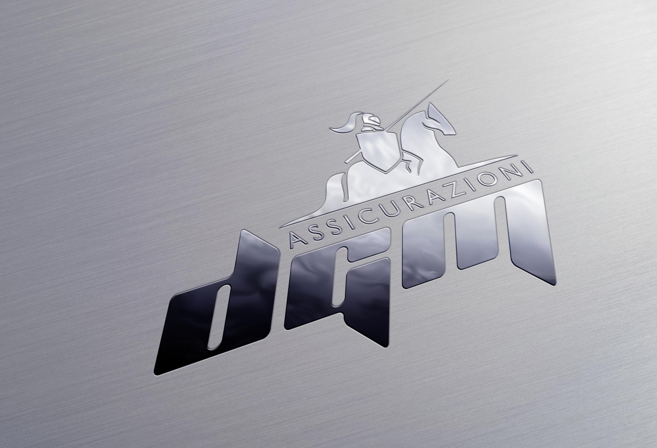 Logo versione metallo