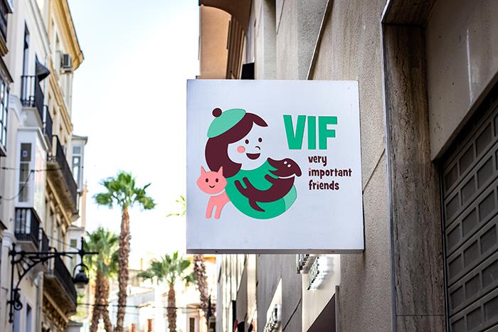 VIF - Insegna negozio