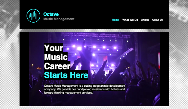 Musik website templates – Musikmanagement