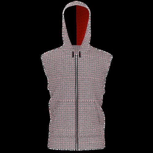 RXR Men's Red Diamond Sleeveless Hoodie