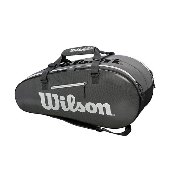 Wilson Super Tour 2 Comp 9-Pack Bag (Gray)
