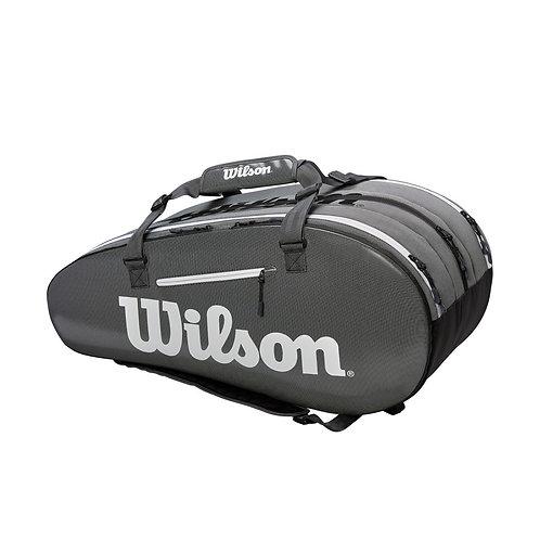 Wilson Super Tour 3 Comp 15-Pack Bag (Gray)