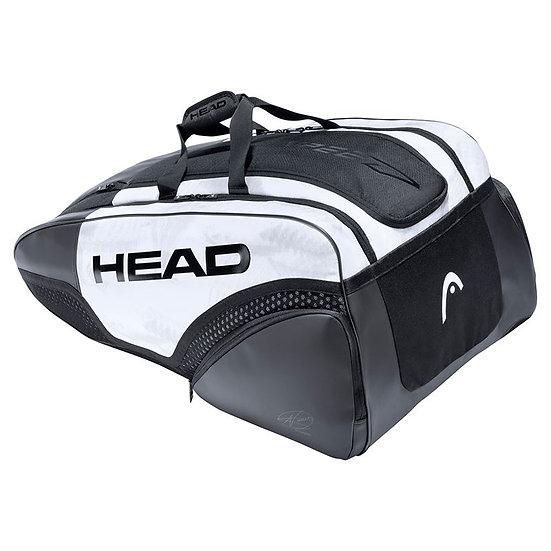Head Djokovic 12R Monstercombi Bag (White/Black)