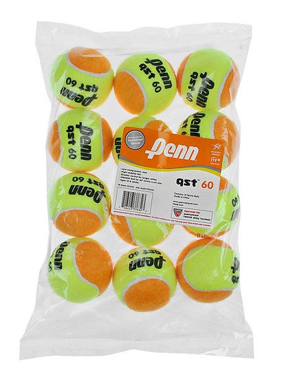 Penn Quick Start Tennis Balls 60' Orange Felt (12-Pack)