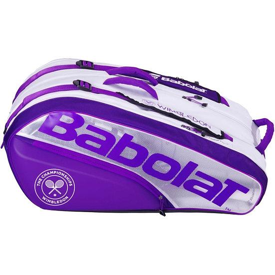 Babolat Pure 12-Pack Wimbledon Tennis Bag (White/Purple)